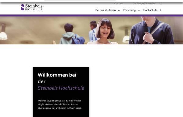 Vorschau von www.steinbeis-hochschule.de, Steinbeis-Hochschule Berlin