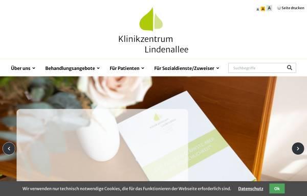 Vorschau von www.klinikzentrum-lindenallee.de, Klinikzentrum Lindenallee