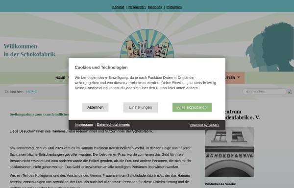 Vorschau von www.schokofabrik.de, Schokofabrik Frauenzentrum e.V.