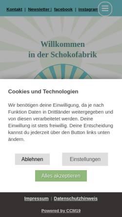 Vorschau der mobilen Webseite www.schokofabrik.de, Schokofabrik Frauenzentrum e.V.