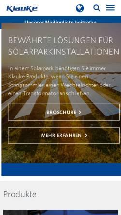 Vorschau der mobilen Webseite www.klauke.com, Gustav Klauke GmbH