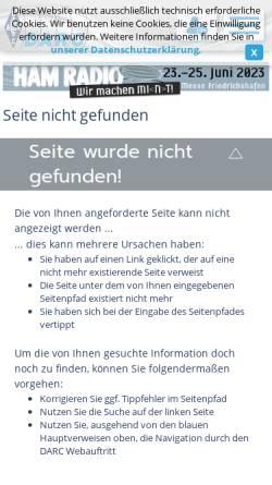 Vorschau der mobilen Webseite www.darc.de, Ochsenweg-Diplom