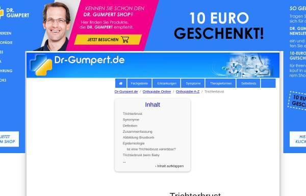 Vorschau von www.dr-gumpert.de, Dr. Gumpert: Trichterbrust