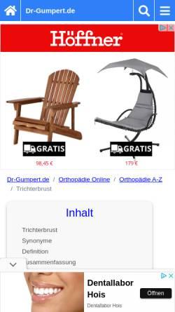 Vorschau der mobilen Webseite www.dr-gumpert.de, Dr. Gumpert: Trichterbrust