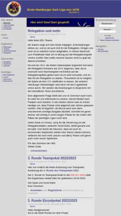 Vorschau der mobilen Webseite www.hhdartliga.de, HH-Dartliga