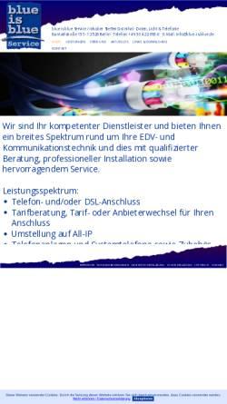 Vorschau der mobilen Webseite www.blue-is-blue.de, Blue Is Blue, Inh. Steffen Grünthal