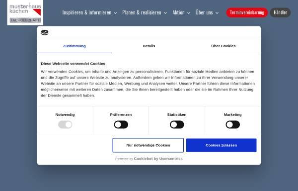 Vorschau von www.musterhauskuechen.de, Musterhaus Küchen Deutschland GmbH & Co. Marketing für Küchen-Industrie und -Handel KG