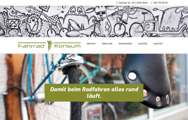 Vorschau von www.fahrradkonsum-berlin.de, Konsum Berlin