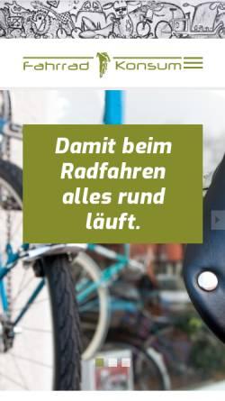 Vorschau der mobilen Webseite www.fahrradkonsum-berlin.de, Konsum Berlin