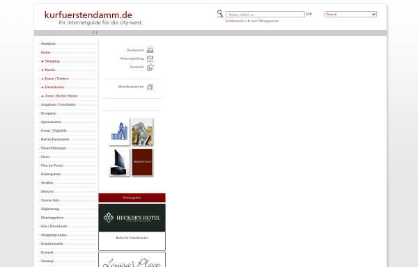 Vorschau von www.kurfuerstendamm.de, Kurfuerstendamm.de