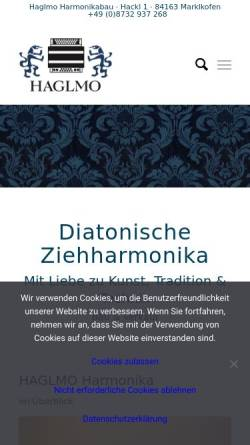 Vorschau der mobilen Webseite www.haglmo-harmonika.de, Haglmo Diatonische Ziehharmonikas