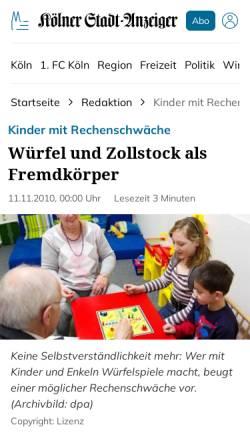Vorschau der mobilen Webseite www.ksta.de, Frangenberg, Helmut