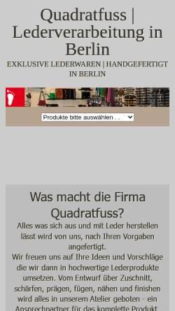 Vorschau der mobilen Webseite www.quadratfuss.de, Quadratfuss