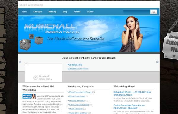 Vorschau von www.musichall100.de, Musichall100
