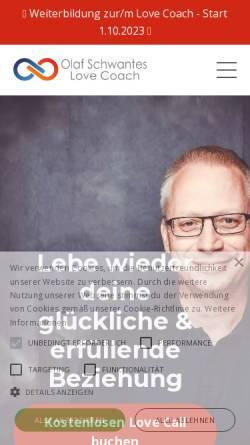 Vorschau der mobilen Webseite www.coach-paarberatung.de, Olaf Schwantes - Paarberater und Business-Coach
