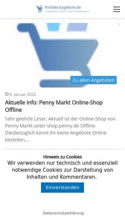 Vorschau der mobilen Webseite www.weltdertechnik.de, Welt der Technik