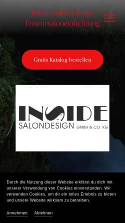 Vorschau der mobilen Webseite friseursaloneinrichtung.de, Inside Salon-Design GmbH&Co.KG