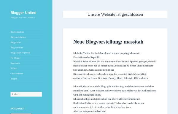 Vorschau von bloggerunited.de, Blogger United