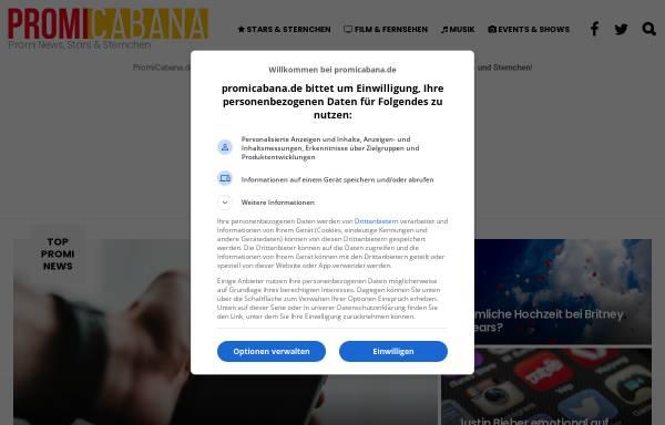 Vorschau von www.promicabana.de, Promicabana