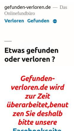 Vorschau der mobilen Webseite gefunden-verloren.de, gefunden-verloren