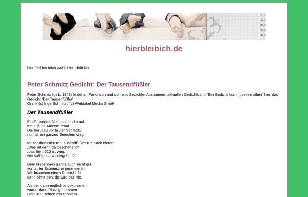 Vorschau von www.hierbleibich.de, hierbleibich.de