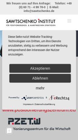 Vorschau der mobilen Webseite www.sawtschenko.de, Dipl.-Ing. (FH) Peter Sawtschenko