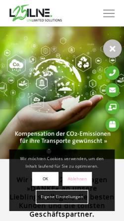 Vorschau der mobilen Webseite www.logiline.de, Logiline GmbH