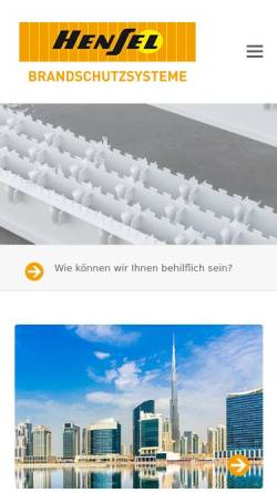 Vorschau der mobilen Webseite www.rudolf-hensel.de, Rudolf Hensel GmbH