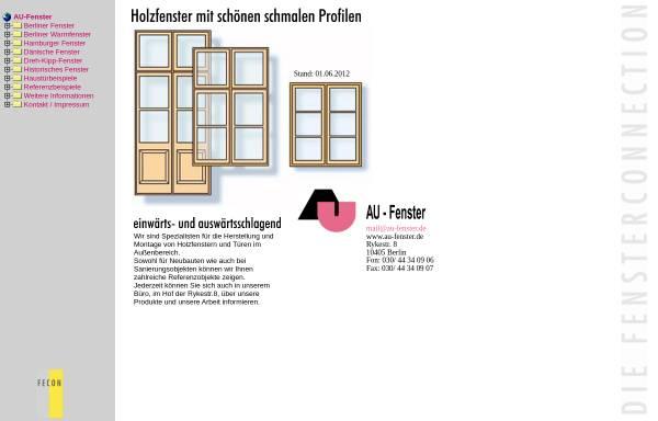 Vorschau von www.au-fenster.de, AU GmbH - Fenster und Türen