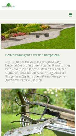 Vorschau der mobilen Webseite www.holstein-gartengestaltung.de, Holstein-Pflanzen GmbH