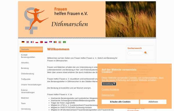 Vorschau von www.frauenberatung-dithmarschen.de, Frauen helfen Frauen