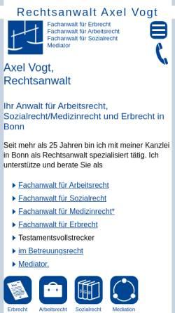 Vorschau der mobilen Webseite www.axel-vogt.de, Axel Vogt