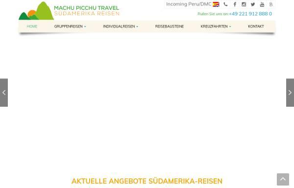Vorschau von www.mpt-reisen.de, Machu Picchu Travel