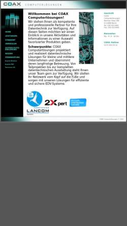 Vorschau der mobilen Webseite www.coax.de, Stefan Krause