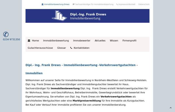 Vorschau von www.ing-drews.de, Immobilienbewertung Dipl. Ing Frank Drews