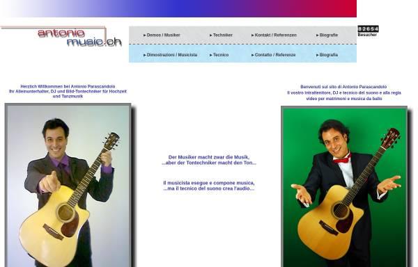 Vorschau von www.antoniomusic.ch, Antoniomusic