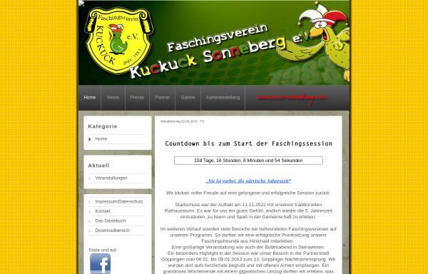 Vorschau von www.kuckuck-sonneberg.com, Faschingsverein Kuckuck Sonneberg e.V.