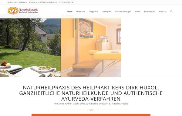 Vorschau von www.naturheilpraxis-huxol.de, Naturheilpraxis Huxol