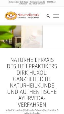 Vorschau der mobilen Webseite www.naturheilpraxis-huxol.de, Naturheilpraxis Huxol