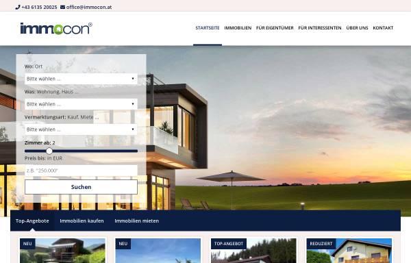 Vorschau von www.immocon.at, IMMOcon Immobilienconsulting Austria