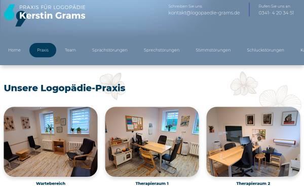 Vorschau von www.logopaedie-grams.de, Praxis für Logopädie Kerstin Grams