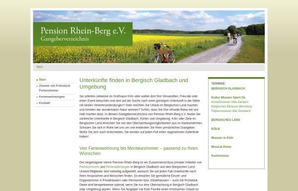 Vorschau von www.pension-rhein-berg.de, Pension Rhein-Berg