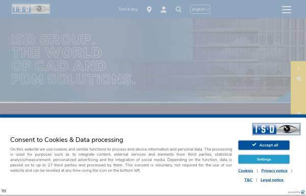 Vorschau von www.isdgroup.com, ISD Software und Systeme GmbH