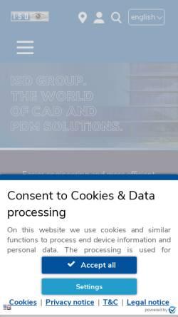 Vorschau der mobilen Webseite www.isdgroup.com, ISD Software und Systeme GmbH