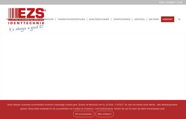 Vorschau von www.e-z-s.de, EZS Identtechnik GbR