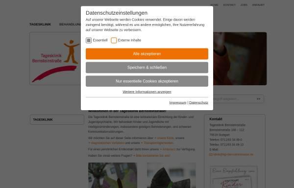 Vorschau von www.kjp-bernsteinstrasse.de, Tagesklinik Bernsteinstrasse