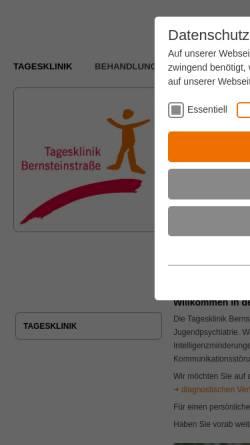 Vorschau der mobilen Webseite www.kjp-bernsteinstrasse.de, Tagesklinik Bernsteinstrasse
