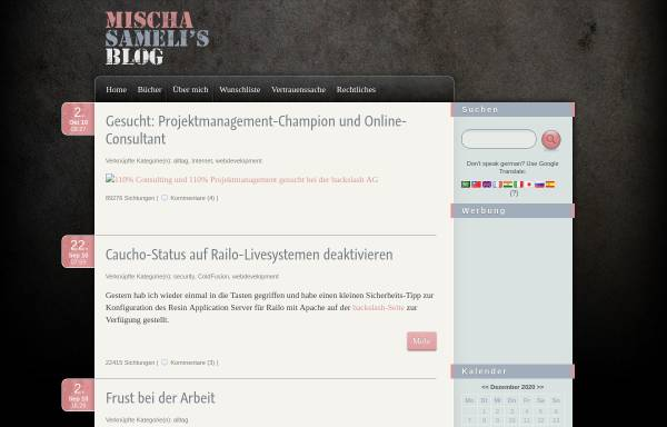Vorschau von www.samelis.ch, Sameli, Mischa