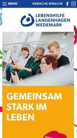 Vorschau der mobilen Webseite www.gba-langenhagen.de, GBA, Gemeinnützige Gesellschaft für Behindertenarbeit mbH