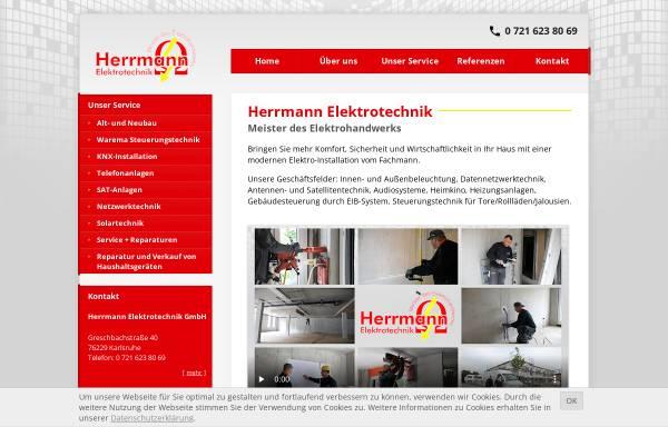 Vorschau von www.elektrotechnikherrmann.de, Herrmann Elektrotechnik